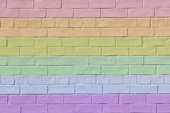 покрашенная кирпичом стена радуги Стоковые Изображения RF