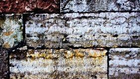 покрашенная кирпичом стена текстуры Стоковое Изображение