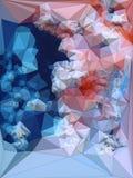 Покрашенная конспектом полигональная триангулярная предпосылка мозаики перевод 3d Стоковое фото RF