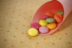 Покрашенная конфета Стоковые Изображения