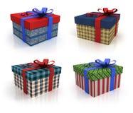 Покрашенная коробка с подарками Стоковое Фото