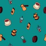 Покрашенная кофе картина плана равновеликая Стоковое Изображение