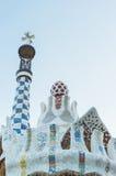 Покрашенная крыша с керамическими плитками Стоковые Фотографии RF