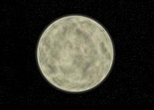 покрашенная луна реалистической Стоковые Фото