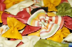 Покрашенная макарон предпосылка макаронных изделий Стоковые Изображения