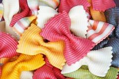 Покрашенная макарон предпосылка макаронных изделий Стоковое Изображение