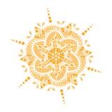 Покрашенная мандала нарисованная рукой также вектор иллюстрации притяжки corel Стоковое Изображение
