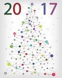 Покрашенная молекулярная рождественская елка Стоковое Фото