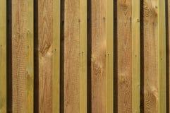 Покрашенная новая деревянная загородка Стоковая Фотография