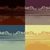 Покрашенная орнаментальная предпосылка деталя Стоковое Изображение RF