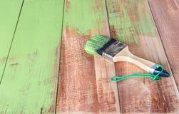 Покрашенная доска древесины щетки Стоковое Изображение