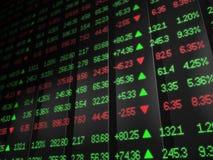 Покрашенная доска тиккера фондовой биржи Стоковое фото RF