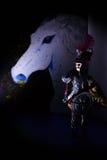 Покрашенная лошадь и старая марионетка Стоковое Фото