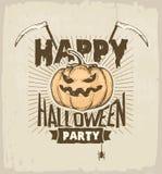 Покрашенная партия хеллоуина Стоковое Фото