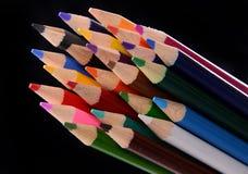 Покрашенная пачка карандаша Стоковая Фотография RF