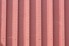 Покрашенная пинком обшитая панелями древесиной предпосылка загородки Стоковое Изображение RF