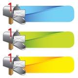 покрашенная полученная почта нашивает ve вы Стоковые Фотографии RF