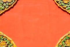 Покрашенная полива традиционная картина на стене Пекина имперский дворец Стоковые Фото