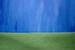 покрашенная предпосылка весны сини и ткани зеленая Стоковые Изображения RF