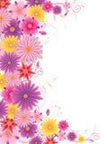 покрашенная предпосылка флористической Иллюстрация вектора