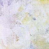 Покрашенная предпосылка холста с цветом закрывает и краска брызгает Стоковое Изображение