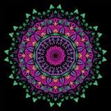Покрашенная психоделическая мандала гриба Стоковое Изображение