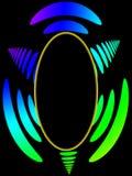 покрашенная радуга изображения f овальная Стоковые Фотографии RF