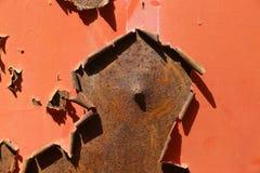 Покрашенная ржавая поверхность металла Стоковые Фотографии RF