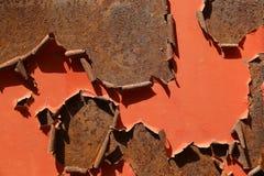 Покрашенная ржавая поверхность металла Стоковые Фото
