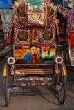 Покрашенная рикша стоковые фото