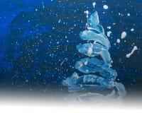 Покрашенная рождественская елка, Стоковое Изображение