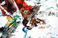 покрашенная рука абстрактной предпосылки цветастая иллюстрация вектора