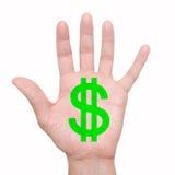 Покрашенная рука Стоковая Фотография RF