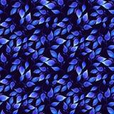 Покрашенная рукой синь акварели выходит безшовный цветочный узор Иллюстрация штока