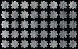 Покрашенная серебром картина цветков Стоковое Изображение RF