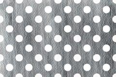 Покрашенная серебром предпосылка точки польки Стоковое фото RF