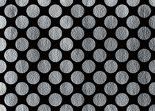 Покрашенная серебром предпосылка точки польки Стоковые Фото
