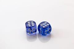 Покрашенная синью изолированная кость пар Стоковые Изображения