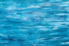 Покрашенная синью текстура деревянной доски, горизонтальная Стоковые Изображения RF