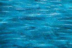 Покрашенная синью текстура деревянной доски, горизонтальная Стоковые Изображения