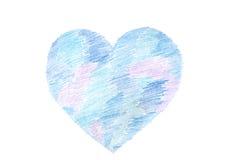 Покрашенная синью форма сердца Стоковое Фото