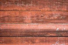 Покрашенная старая деревянная стена Красная предпосылка стоковые фотографии rf