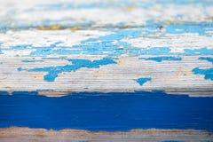 Покрашенная старая деревянная предпосылка кобальта стены стоковые изображения rf