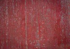 Покрашенная старая деревянная стена Красная предпосылка Стоковое Изображение RF