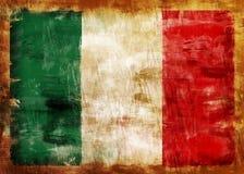 покрашенная старая Италии флага Стоковая Фотография RF