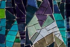 Покрашенная стеклянная мозаика Справочная информация текстура Стоковые Изображения RF