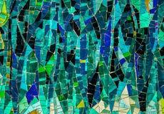 Покрашенная стеклянная мозаика Справочная информация текстура Стоковое Фото