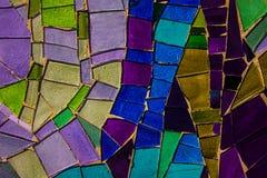 Покрашенная стеклянная мозаика Справочная информация текстура Стоковые Фотографии RF