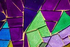 Покрашенная стеклянная мозаика Справочная информация текстура Стоковое фото RF