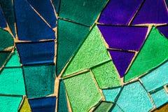 Покрашенная стеклянная мозаика Справочная информация текстура Стоковая Фотография RF
